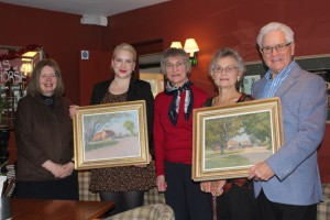 Ernest Heasman paintings presentation at The White Horse Hatching Green 5th December 2015 low res