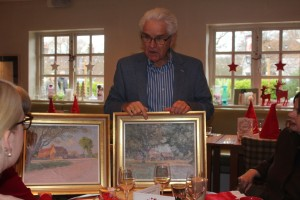Ian Taylor with the Ernest Heasman paintings 2 low res
