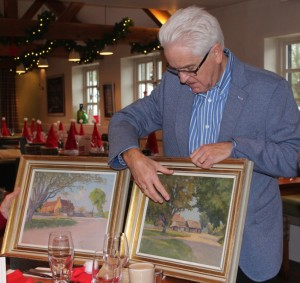 Ian Taylor with the Ernest Heasman paintings low res